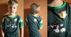 Kindershirt aus aussortierter Kleidung / Kids' shirt made from discarded clothes / Upcycling