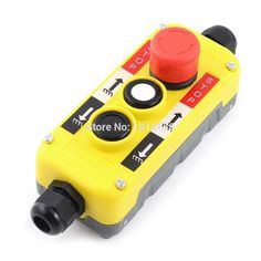 Red Emergency Stop Up Down Push Button Switch AC 400V for Hoist Crane