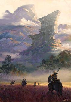 The giant monument by Alejandro Olmedo   Fantasy   2D   CGSociety