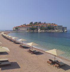 Aman Sveti Stefan near Budva, Montenegro: an Adriatic beach resort spread between an iconic Unesco island and a former royal residence. i-escape.com
