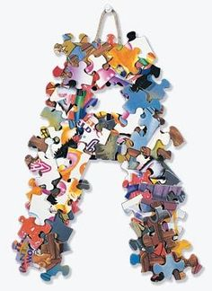Puzzle with missing pieces? Recycle it into a piece of artwork for your child's room!     https://www.facebook.com/photo.php?fbid=619520761411349=a.565419626821463.145026.565415993488493=1_count=1