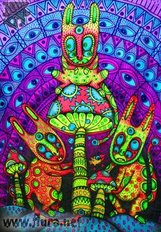 DMT Trip Psychedelic Art | Source) | Jellyfish Times | Aimless Psychedelia