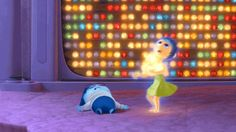 "In early versions of the film, Joy was paired with Fear, not Sadness. | 19 Super Interesting Facts About Disney's ""Inside Out"""