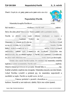 Neposlušný Pavlík | datakabinet.cz Home Schooling, Homeschool, Teaching, Activities, Education, Dyslexia, Projects, Onderwijs, Homeschooling