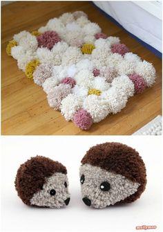 How to use a pom pom maker Pom Pom Rug, Pom Pom Garland, Pom Poms, Diy Crafts For Home Decor, Craft Stick Crafts, Holiday Crafts, Holiday Ideas, Crochet Patterns For Beginners, Easy Crochet Patterns