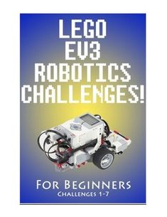 These LEGO EV3 Robotics challenges are great for first time EV3 users, as well as for beginners who need review.  They can be used as Engineering, Math, Science, STEM or STEAM activities.This set comes with Challenges 1-7, as well as a Teacher's Hints & Information page. Lego Wedo, Lego Mindstorms, Lego Technic, Robotics Projects, Lego Projects, Science Projects, Lego Coding, First Lego League, Educational Robots