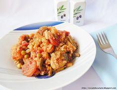 Reteta culinara Mancare de legume la cuptor cu orez din categoria Mancaruri cu legume si zarzavaturi. Cu specific romanesc.. Cum sa faci Mancare de legume la cuptor cu orez Shrimp, Cooking Recipes, Vegan, Chicken, Easy, Food, Chef Recipes, Essen, Eten