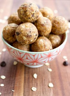 Chocolate Chip Peanut Butter Cookie Dough Protein Balls