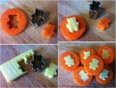 idées repas santé amusant-enfant-carottes-fromage
