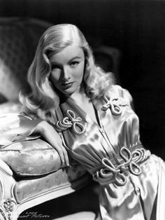 Actress Veronica Lake. All the girls wanted to wear their hair like this, but unfortunately their tresses would get caught in the machinery as they worked in the factories during the war. Ouch!!! The government actually made an instructional video with Ms. Lake to encourage ladies to either put their hair up or just cut it. When envisioning characters for my supernatural spy thriller set in the 1940's, I totally see the vampire Casandra looking like this.  http://www.amazon.com/dp/B005QSFXC6