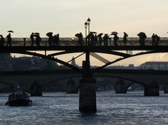 Along the Seine, rain is comming, love by my side. That´s what I love about the Paris, France