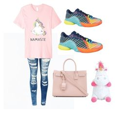 """Unicorn Stress-Free Outfit"" by polyvorexoxo44 on Polyvore featuring adidas and Yves Saint Laurent"