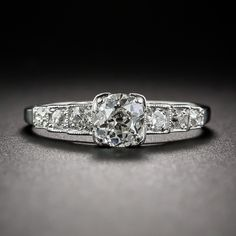 .65 Carat Old Mine-Cut Diamond Art Deco Engagement Ring - 10-1-6773 - Lang Antiques I like this one too!