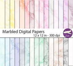 Marble Digital Paper in 30 Colours for Digital Scrapbooking, Card Making, Invitations - Digital Scrapbooking, 12 x JPEG, by JourneywithJanelle on Etsy Paper Bead Jewelry, Paper Beads, Wedding Scrapbook, Diy Scrapbook, Free Digital Scrapbooking, Digital Papers, Happy Planner, Etsy Handmade, Planner Stickers