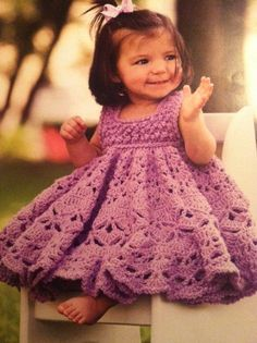 Baby girl crochet dress....omg totally in love with the fullness of this dress.