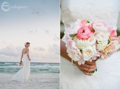 Dear Wesleyann | Rosemary Beach Wedding Photographer | Seaside Wedding Photographer | Alys Beach Photographer | Destination Wedding Photographer Carillon Beach Wedding/ Coral, turquoise and khaki/ Bouquet by Noveau