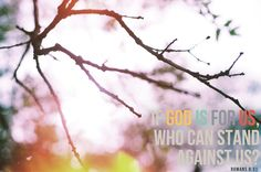 God is for us..