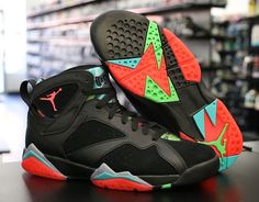 """Dubbed the """"Marvin The Martian"""" colorway, this Air Jordan 7 sports bright accents that remind us of Michael's popular Space Jam flick. A lot of shoes dropping Feb"""