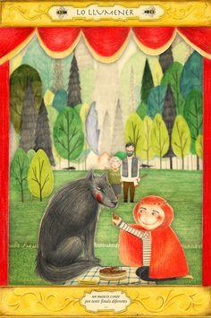 "Festival ""lo Llumener"". Imatge. by Vanesa Freixa. #illustration #ilustracion #caperucita #redhood #lobo #wolf #bosque #forest #wood #fairytales #cuentos #festival #poster #diorama #vanesafreixa"