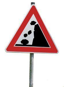 rockfall traffic sign