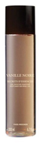 """Vanille Noire Secrets D'Essence Perfumed Shower Gel by Yves Rocher (6.7 fl. oz./200ml) by Yves Rocher. $20.00. Delightful Dependency; Under the shower, rediscover the pleasure of the soft, sensual fragrance of Vanille Noire.. """"This creation is based on the three most attractive qualities of vanilla, which unveil a treasure trove of nuances and subtleties on your skin.""""  The Plus: Its botanical cleansing base."""