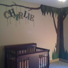 jungle theme nursery   Do it yourself letters for jungle themed nursery   Baby