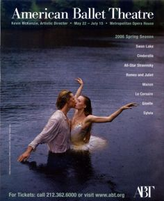 Gillian and Ethan on Spring 2006 ABT Poster