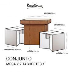 Conjunto Mesa y Taburetes