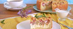 rhabarberkuchen mit streusel | Rezepte zum Kochen, Backen, Grillen | Foodtempel Camembert Cheese, Dairy, Food, Sprinkles Recipe, Play Dough, Crickets, Cooking, Recipies, Essen
