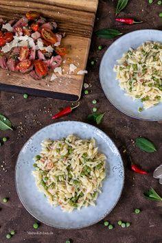 Risoni mit Pancetta