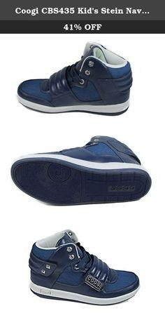 Coogi CBS435 Kid's Stein Navy Sneaker US 5.5. Coogi CBS435 Kid's Stein Fashion SneakerTextileLeatherStylish LookFabric upperRubber Outsole.