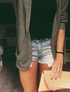 Casual #casual -  #summer -  black  inspo  #purse -  cardigan,  #tshirt