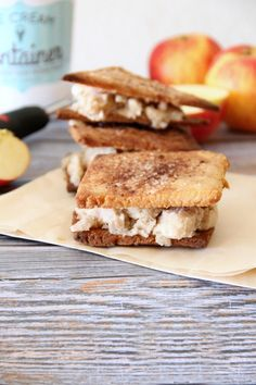 OMG! these sound DELICIOUS!  Apple Pie Ice Cream Sandwiches