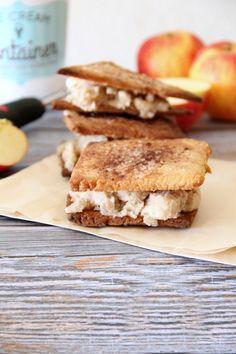 apple pie ice cream sandwiches {gluten free  dairy free}