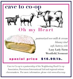 Littleton Food Co-op: Catherine's Cheese Curds: Lazy Lady Goat Cheese