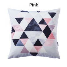Simple Geometric throw pillow 18 in comfortable couch cushions suede