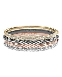 Michael Kors Pave Hinge Bangle Bracelet | Bloomingdale's