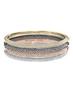 Michael Kors Pave Hinge Bangle Bracelet | Bloomingdale's
