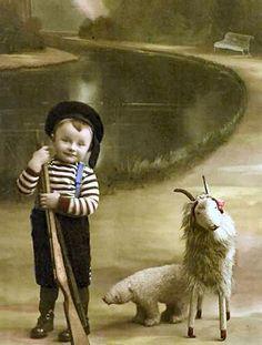 Little Boy With His Pet. Vintage Children Photos, Vintage Pictures, Old Pictures, Vintage Images, Old Photos, Vintage Abbildungen, Vintage Postcards, Vintage Prints, Antique Photos