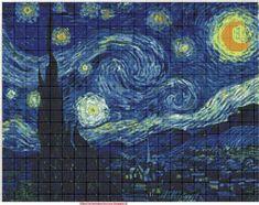Allora potete tranquillamente cercare la vostra raccolta preferita e scaricare tutti gli schemi a punto croce che più vi piacciono per riprodurre alla perfezione un grande quadro d'autore. Van Gogh, Klimt, Picasso, Monet, Mucha e la lista non finisce qui ...