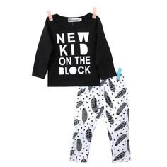 'New Kid on the Block' Set #babyclothingset #toddlerclothingset #baby #toddler #fashion #set #clothing #children #boutique #boys #girls #cute #outfits