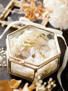 m.soeur エムスール ガラスのリングピロー (六角形)