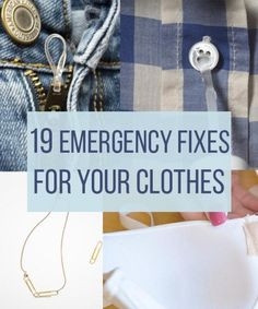 19 Fixes For Every Clothing Emergency #Fashion #Trusper #Tip