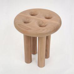 Four-legged Button Stool by CHRISTOPHER KURTZ