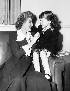 Lucille Ball with her niece, Pamela, circa 1950