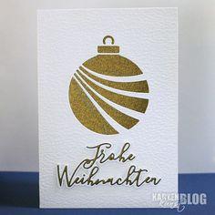 Karten-Kunst » Elegante goldene Weihnachtskarte