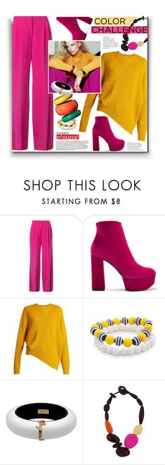 """""""31. Bright winter style"""" by milva-bg ❤ liked on Polyvore featuring Mary Katrantzou, Casadei, STELLA McCARTNEY, Kim Rogers, Dsquared2 and Wallis"""