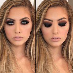 12. Romantic eyes – warm black and brown smokey eyes