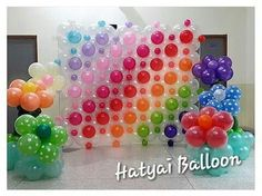 Balloon rainbow birthday