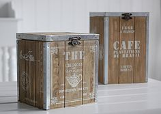 A wooden tea storage chest | The White Lighthouse